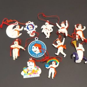 Lot of 11 Bonhomme Carnaval Christmas ornaments
